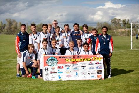 Fusion U14 Boys-Yellowstone Cup Champions