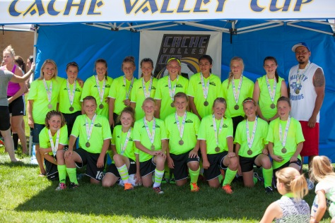 Revolution Girls-Cache Valley Cup U13 Silver Champions for 2014